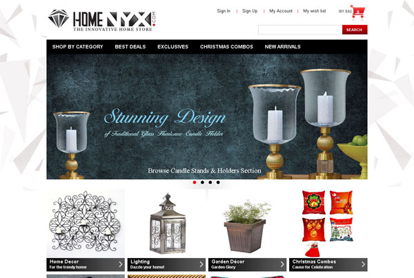 Home NYX sales and service website design